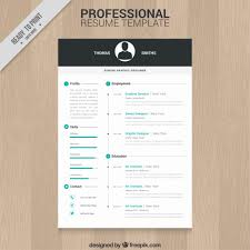Template For A Professional Resume 10 Top Free Resume Templates Freepik Blog