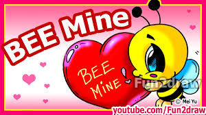 how to draw valentines cute cartoon bee heart fun2draw