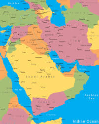 middle east map with countries middle east cities map