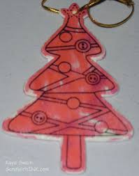 wooden and foamie tree ornaments activities for