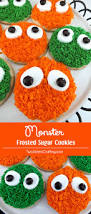 Decorated Halloween Sugar Cookies by Monster Frosted Sugar Cookies Two Sisters Crafting