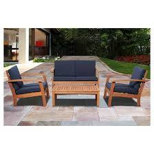 Wood Patio Furniture Sets Pretty Design Ideas Wood Patio Furniture Sets Eucalyptus Outdoor