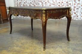 bureau style louis xv louis xv style ormolu mounted figural bureau plat desk erin