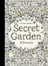 secret garden coloring book chile secret garden 20 postcards johanna basford 9781856699464