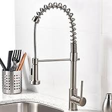 kitchen faucets brushed nickel vccucine best modern commercial brushed nickel pull out sprayer