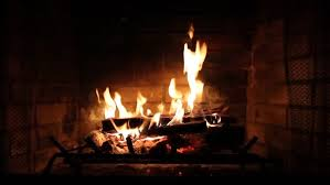 Fireplace With Music by Medium Shot Of A Yule Log Burning In A Fireplace Stock Footage