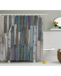 Shower Curtains by Sweet Deal On Wooden Shower Curtain Blue Grey Grunge Rustic