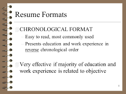 easy to read resume format resume writing presenting yourself on paper ppt download