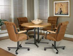 kitchen table sets chairs with wheels ideas gyleshomes com