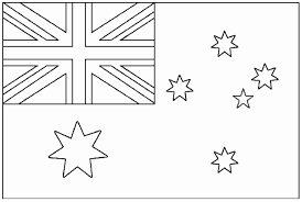 flag australia flags coloring pages for kids to print u0026 color