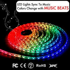 amazon com led strip lights led lights sync to music 16 4ft 5m