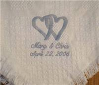 personalized wedding blanket personalized anniversary blankets anniversary afghans