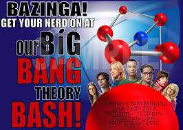printable big bang theory party invitation personalized with your