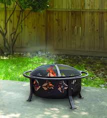 Images Of Backyard Fire Pits by Amazon Com Pleasant Hearth Sunderland Deep Round Bowl Fire Pit