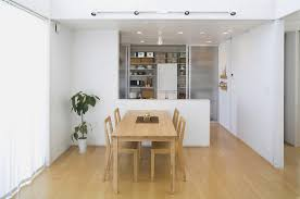 dining room in compact and minimal japanese house designed by muji