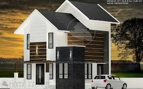 home design for 1200 square feet square feet double floor modern budget home design