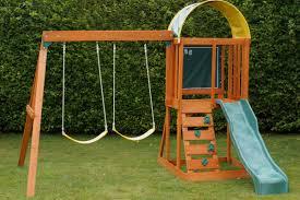 backyard ideas outdoor wood playsets playset swing set backyard