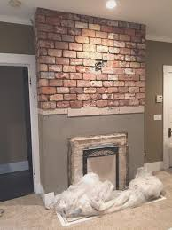fireplace new brick fireplace tile wonderful decoration ideas