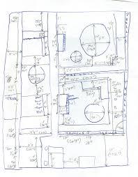 Vegetable Garden Plot Layout by Urban Garden Casual Measure And Sketch Your Garden