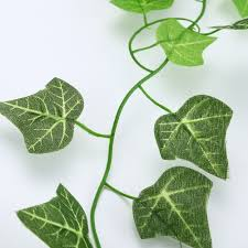 green artificial plastic ivy leaf garland plants flower vine