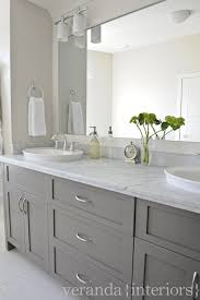 Gray And White Bathroom - veranda interiors custom gray double bathroom vanity like the
