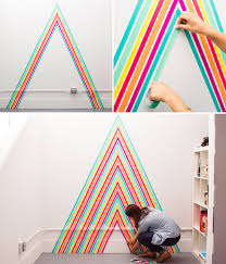 learn how to diy washi tape wallpaper with this tutorial ellen