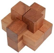 mat en bois casse tete en bois puzzle 6 pièces jbd jouet en bois