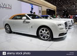geneva switzerland march 7 2017 new 2018 rolls royce dawn