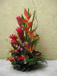 tropical flower arrangements large silk tropical flower arrangement home design and decor