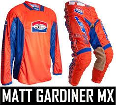 jt racing motocross gear jt racing classick motocross mx kit pants jersey orange blue retro