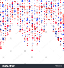 Red White Flag With Blue Star Fourth July Vector Background Horizontal Lines Stock Vector