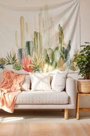 urban outfitters wall decor cactus landscape tapestry tapestry cacti and landscaping