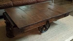 original coffee tables antique factory cart warehouse table