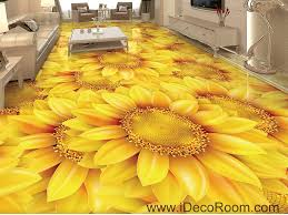 gold sunflowers field 00044 floor decals 3d wallpaper wall mural