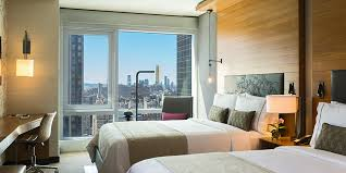 new beds skyline view roomtwo queen beds renaissance new york midtown