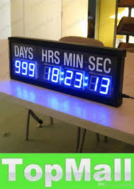 lai blue led countdown clock in days hours minutes seconds every