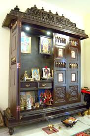 Home Temple Design Interior 63 Best Pooja Cabinet Images On Pinterest Puja Room Prayer Room