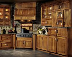 wood countertops rustic hickory kitchen cabinets lighting flooring