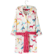Joules Girls Nutkin Pony Print Dressing Gown Millbry Hill