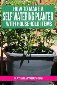 tutorials self watering planter