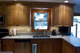 Red Birch Kitchen Cabinets Clear Coat Red Birch Kitchen And Breakfront Northwoods Manufacturing
