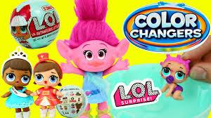 trolls poppy lol surprise baby dolls color changer ultra rare