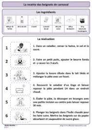 exercice recette de cuisine crêpes apprendre le français