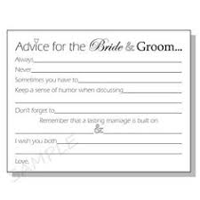 Groom To Bride Card Instructions Please Fill Out An Advice Card For Amber And Joe