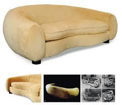 canap forme haricot jean royère canapé modèle boule dit ours polaire de forme