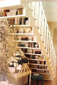 Design For Staircase Remodel Ideas Display Your Book Collection Under The Stairs Remodeling Ideas