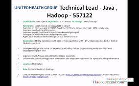 Best Resume For 3 Years Experience by Resume Hadoop Resume