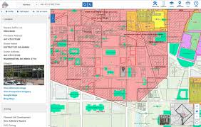 Washington Dc Hotel Map by Blue Raster Incorporates Esri Technology Into Dc Office Of Zoning Map