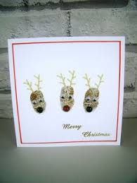 luxury christmas card special handmade 3d reindeer xmas holiday