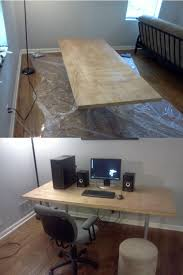 needed a desk upgrade stained a home depot unfinished slab door